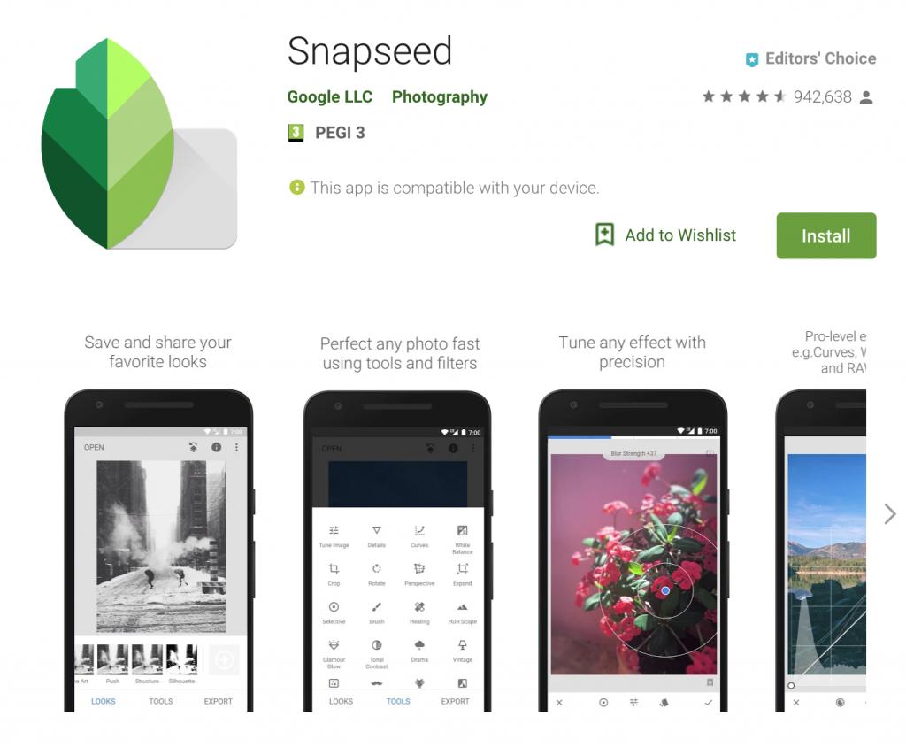 Freelancing - Snapseed