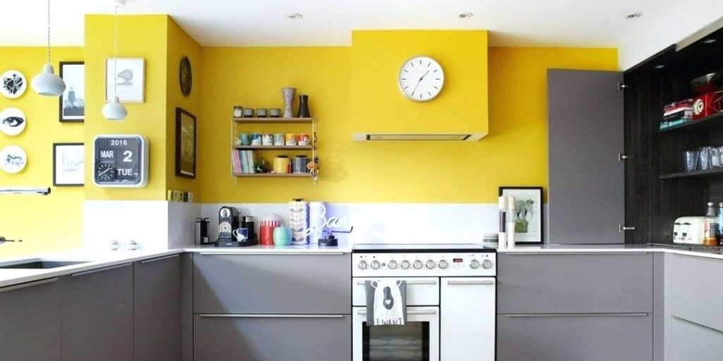 Freelancing - kitchen yellow yellow kitchen walls with brown cabinets