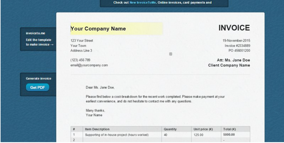 Freelancing - Invoice to.me
